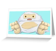 Adorable Stitched Yeti Greeting Card