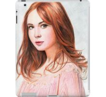 Amy Pond - Karen Gillan from Doctor Who saga iPad Case/Skin