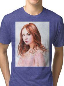 Amy Pond - Karen Gillan from Doctor Who saga Tri-blend T-Shirt