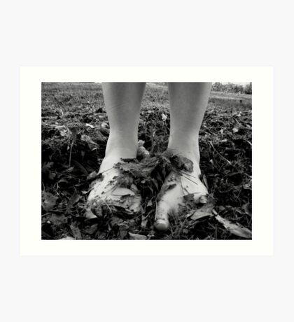 barefoot Art Print
