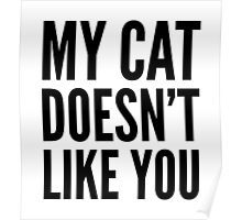 My Cat Doesn't Like You Poster