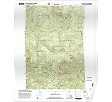 USGS Topo Map Washington State WA Bare Mountain 239938 1998 24000 Poster