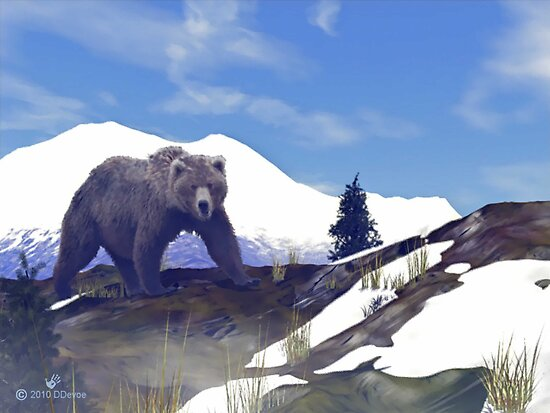 Treeline Grizzly by PSyborg57