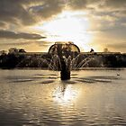 Fountain at Kew Gardens by Silken Photography