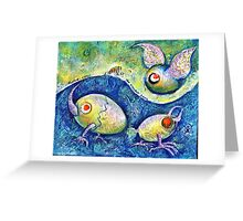 The Flying Egg Greeting Card