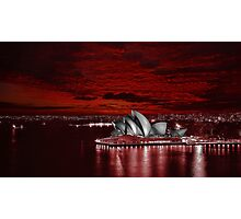 Red Dawn Opera House Photographic Print