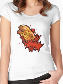 Chestbuster   The Xenomorph birth Women's Fitted Scoop T-Shirt