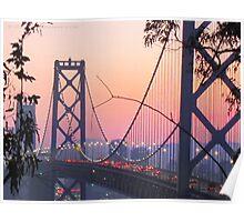 San Francisco Bay Bridge Rush Hour Poster