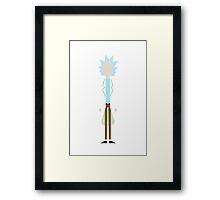 Minimalist Rick Framed Print