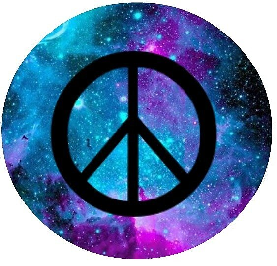Galaxy Themed Peace Sign By Bethkatiegrace Redbubble