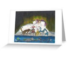 Arctic Mermaids Polar Bears Cathy Peek Art Greeting Card