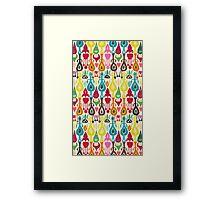 ivory love ikat Framed Print