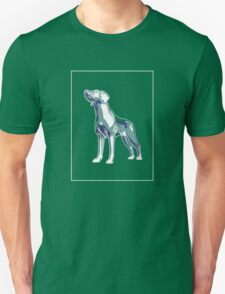 Dog Mauve Green E T-Shirt