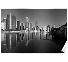 Brisbane River & City. Poster