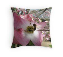 Bee & Dogwood Throw Pillow