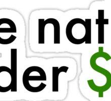Currency Slavery Sticker Sticker