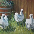 Free Range Silkies by Dianne  Ilka