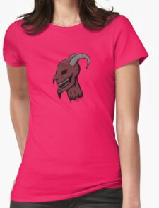 Severed Demon Head Womens Fitted T-Shirt