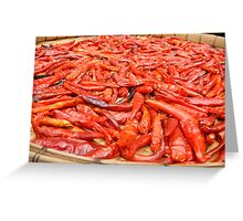 Sun-dried Thai Red Chillies Greeting Card