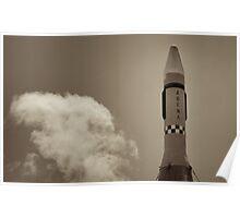 Agena Rocket Launch Poster