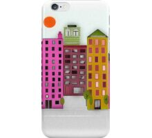 Retro 1950's Style Buildings iPhone Case/Skin