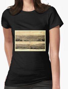 Panoramic Maps Birds eye view of Los Angeles California T-Shirt