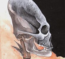 Ancient Elongated Skull Watercolor by lysswhitart
