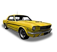Ford - 1966 Mustang Hardtop Coupe Photographic Print