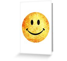 Smiley face - hippie sunflowers Greeting Card