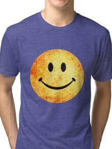 Smiley face - hippie sunflowers Tri-blend T-Shirt