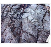 Geology Rocks - Blue Outcrop. Panther Beach, Highway 1, California Poster