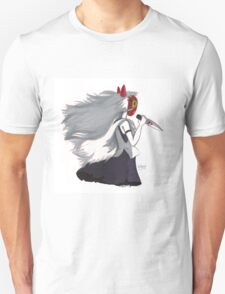 Princess Mononoke Ink Illustration T-Shirt