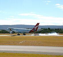 Qantas airbus A330 VH-EBD touch down by patrol1
