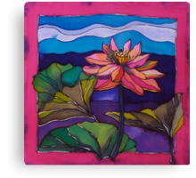 Lotus: Kakadu. Silk painting 2006 Ⓒ Canvas Print