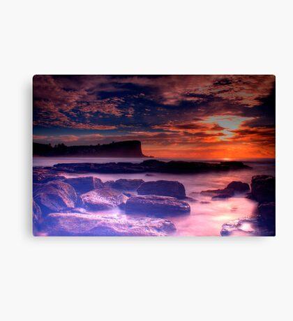 Avalon Beach Sunrise HDR Canvas Print