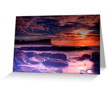 Avalon Beach Sunrise HDR Greeting Card