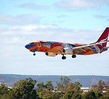 Qantas B737-800 'Yananyi Dreaming'  by patrol1