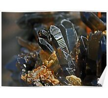 Family of Smokey Quartz Crystals Poster