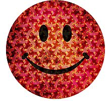 Smiley face - Escher graphic pattern Photographic Print
