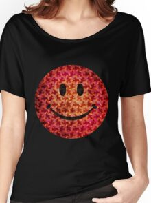 Smiley face - Escher graphic pattern Women's Relaxed Fit T-Shirt