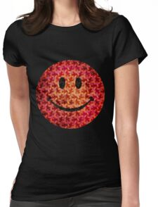 Smiley face - Escher graphic pattern Womens Fitted T-Shirt