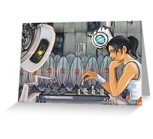 Chell vs. GLaDOS Greeting Card