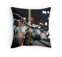 bicycle@night Throw Pillow