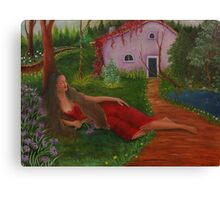 Lady sleeping  Canvas Print