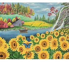 Sun flower landscape Photographic Print