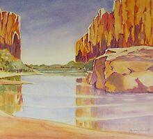 Windjana gorge,kimberley,west australia by Audrey  Russill