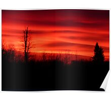 Red Lava Sky Poster