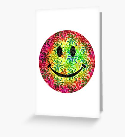 Smiley face - retro Greeting Card