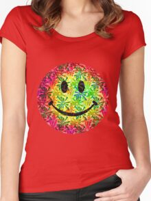 Smiley face - retro Women's Fitted Scoop T-Shirt
