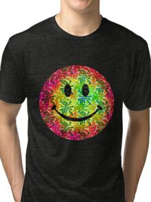Smiley face - retro Tri-blend T-Shirt